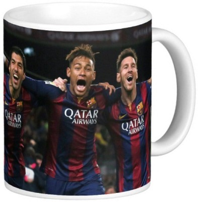 Exoctic Silver Leo Messi Series 024 Ceramic Mug(300 ml) at flipkart