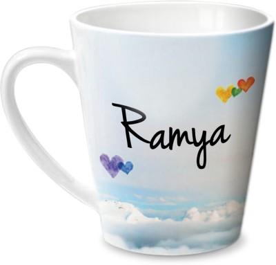 Hot Muggs Simply Love You Ramya Conical Ceramic Mug(350 ml) at flipkart