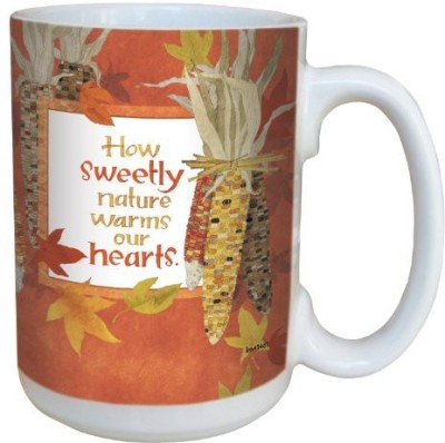Tree-Free Greetings Greetings lm43461 Fall Indian Corn Inspiration by Robin Pickens Ceramic with Full-Sized Handle, 15-Ounce Ceramic Mug(60 ml) at flipkart