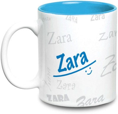 Hot Muggs Me Graffiti - zara Ceramic Mug(350 ml)  available at flipkart for Rs.249