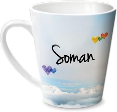 Hot Muggs Simply Love You Soman Conical Ceramic Mug(315 ml)
