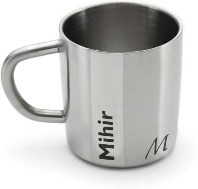 Hot Muggs Me Classic - Mihir Stainless Steel Mug(200 ml) at flipkart
