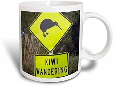 3dRose New Zealand, North Island, Bay of Plenty, Kiwi Road Sign-Au02 Dwa6085 David Wall Ceramic, 11 oz, White Ceramic Mug(60 ml) at flipkart