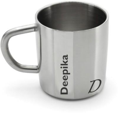 Hot Muggs Me Classic - Deepika Stainless Steel Mug(200 ml) at flipkart