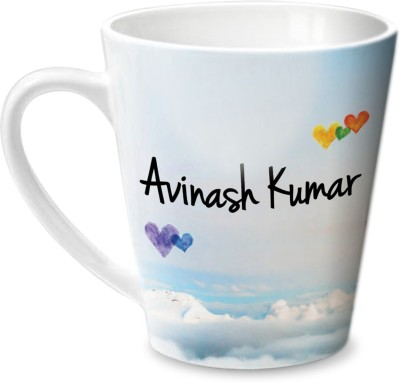 Hot Muggs Simply Love You Avinash Kumar Conical Ceramic Mug(315 ml)