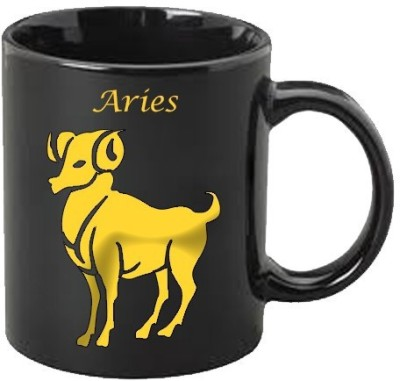 Smileonline Zodiac Coffee - Gold - Aries Ceramic Mug  available at flipkart for Rs.494