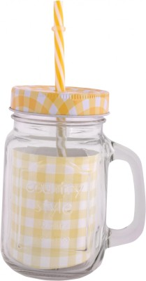 VNU Country Style Mason Jar Glass Mug(470 ml) at flipkart