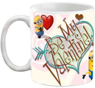 EFW HAPPY VALENTINES DAY BE MY VALENTINE LOVE U PRINTED COFFEE Ceramic Mug(325 ml)