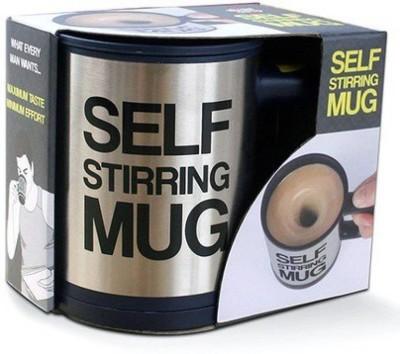 AEC selfstirringmug Stainless Steel Mug(390 ml, Pack of 2) at flipkart