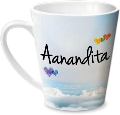 Hot Muggs Simply Love You Aanandita Conical Ceramic Mug(315 ml)