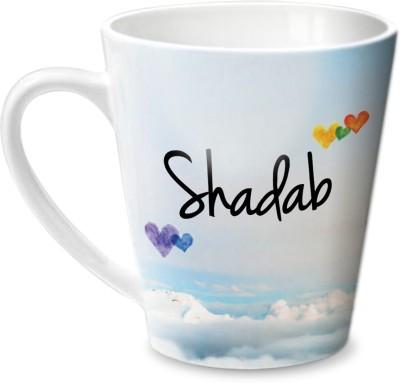 Hot Muggs Simply Love You Shadab Conical Ceramic Mug(315 ml)
