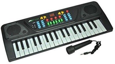 MK Melody Electronic Musical Keyboard 37 Keys Piano With Mic(Black, White)  available at flipkart for Rs.599