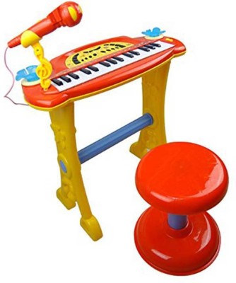 MK Enterprises Musical KeyBoard with Mic& Stand(Multicolor)