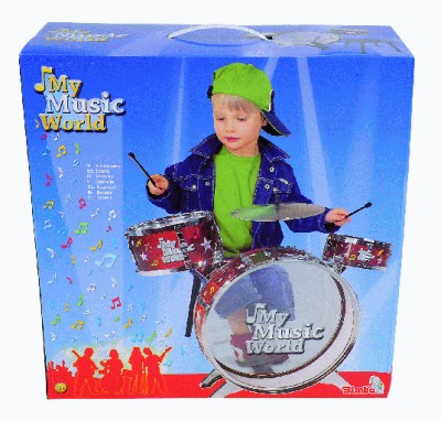 Simba My Music World Power Drum Set(Multicolor)