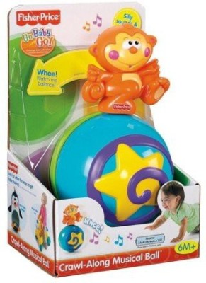 Fisher-Price Go Baby Go! Crawl-Along Musical Ball(Multicolor)  available at flipkart for Rs.3650