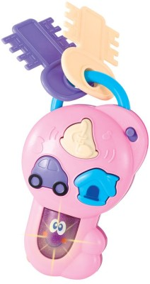 Mitashi Skykids Musical Car Key(White, Pink)