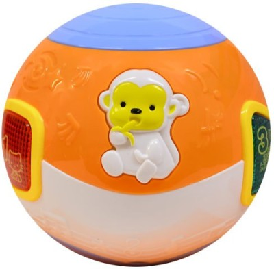 Buddy Fun Move And Crawl Baby Musical Ball – Helps In Crawling(Multicolor)