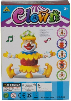 Noorstore Dancing Clown Toy With Music and Sound Effects(Multicolor)