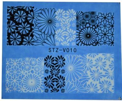 SENECIO™ Black White Flower Full Wraps Nail Art Manicure Decals Water Transfer Stickers 1 Sheet(Black/White) Flipkart