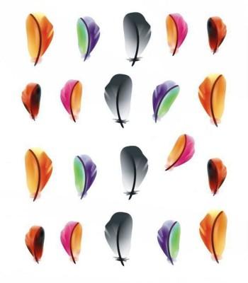 SENECIO™ 3D Printed Multicolor Feather Nail Art Manicure Decals Water Transfer Stickers 1 Sheet(Multicolor) Flipkart