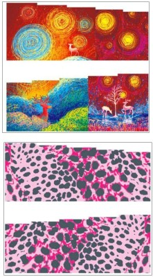 Jenna Manicure Water Transfer Nail Art Decals Stickers- Sapphire Series NR-199(Multicolor)  available at flipkart for Rs.175