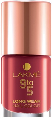 Lakme 9 to 5 Long-wear Nail Color Red Alert(9 ml)
