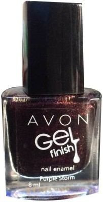 Avon Gel Finish Nail Paint, 8 ML Purple Storm