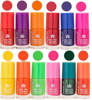 Aroma Care Green Nail Polish Combo 17061612 Red Blue Magenta Yellow Neon