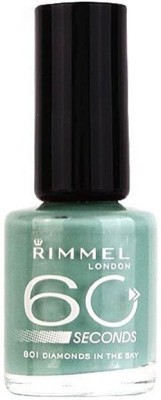 Rimmel London 60 seconds Nail Polish 801 Diamonds in The Sky(8 ml)  available at flipkart for Rs.649