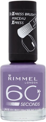 Rimmel London 60 seconds Nail Polish 622 Oh Boy You Are So Fine(8 ml)  available at flipkart for Rs.549