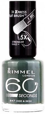 Rimmel London 60 seconds Nail Polish 847 Hide & Seek(8 ml)  available at flipkart for Rs.549