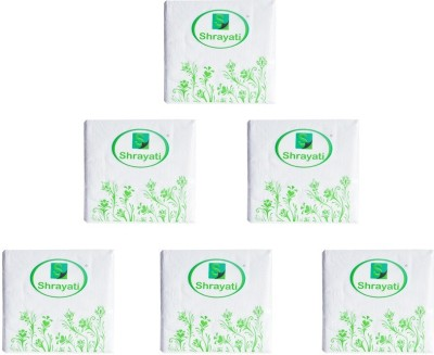 Shrayati Shrayati Product Launches & Brand Activation Events Paper Tissues White Napkins(6 Sheets)