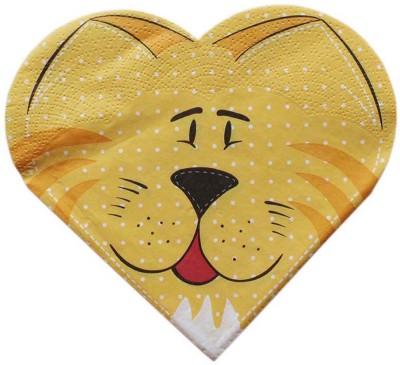 Tootpado Tissue Paper Decoupage 33 x 33 cm (Pack of 20) - Animal Lion Design (1l1321) - Decoration Party Napkin for Art & Craft Supplies Multicolor Napkins(20 Sheets)
