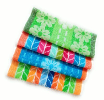 Cotton Colors Floral Design napkins Multicolor Napkins(4 Sheets) at flipkart