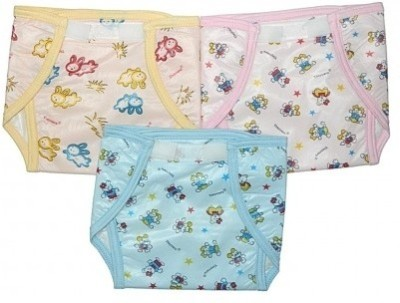 Tiny Care U Shaped Inside Outside Plastic Velcro Nappies