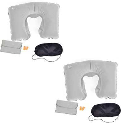 Etheco Travel Pillow Combo Set Neck Pillow & Eye Shade(grey)  available at flipkart for Rs.400