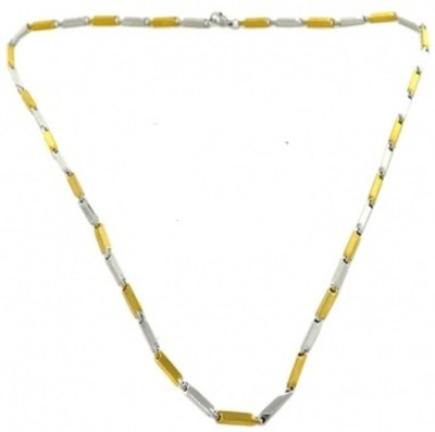 Vaishnavi First Quality Two Tone Heavy Korean Made Non-Allergic Yellow Gold Plated Stainless Steel Chain at flipkart
