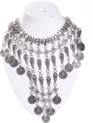 La Boemo Sterling Silver Plated Metal Necklace at flipkart