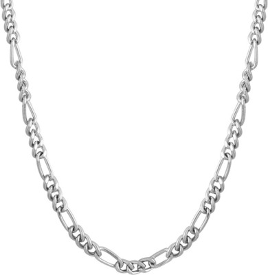 Voylla Artificial Classic Plain Silver Plated Stainless Steel Chain  available at flipkart for Rs.289