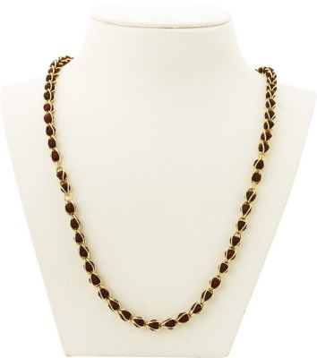 RGL Rudraksha Mala. 24K Yellow Gold Plated Brass Necklace at flipkart