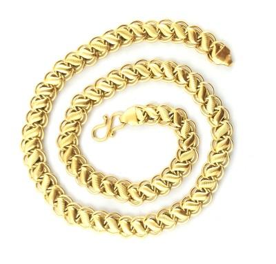 Italian Fashion popular 22K Yellow Gold Plated Brass Chain at flipkart