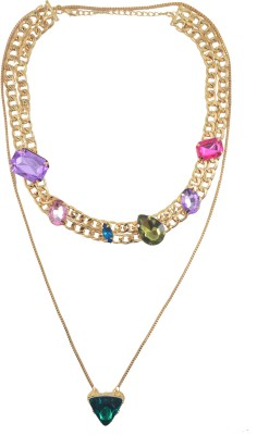 Diovanni Metal, Alloy, Enamel Necklace Set at flipkart