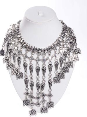 La Boemo Sterling Silver Plated Metal Necklace at flipkart