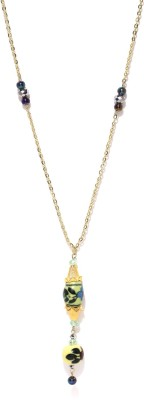 Dressberry Beads Enamel Plated Metal Necklace at flipkart