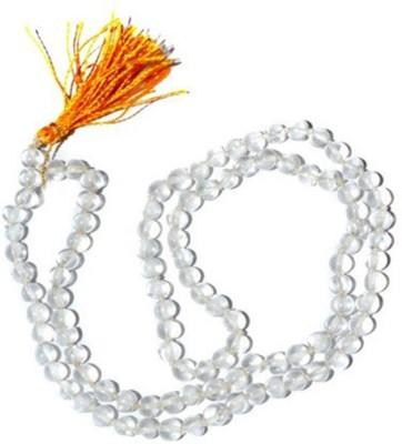 Shiv Shakti White Glass Sphatik Mala Crystal Chain at flipkart
