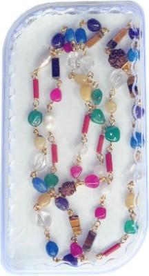 Pratima Navratan Navgrah Natural Origional Semi Precious Gemstone Mala Beads Stone Chain at flipkart