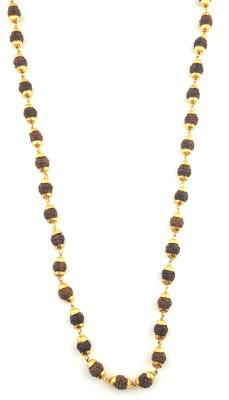 Italian Fashion rudraksh mala 21K Yellow Gold Plated Brass Chain at flipkart