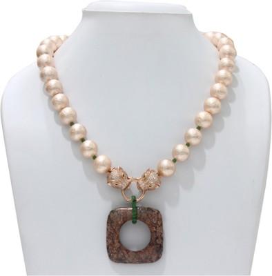 Eighth Fold Brass Plated Brass Necklace at flipkart