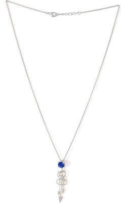Voylla Precious Love Plain Swarovski Crystal Silver Plated Alloy Necklace at flipkart