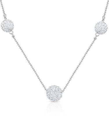 Oviya Scintillating Glamor Crystal Rhodium Plated Alloy, Brass Necklace at flipkart